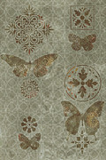 Tapestry Paintings - Butterfly Deco 2 by JQ Licensing