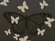 Fluttering Posters - Butterfly Design Collection Poster by Debra     Vatalaro