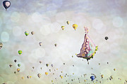 Hot Air Balloon Prints - Butterfly Dreams Print by Andrea Hazel Ihlefeld