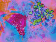 Multi Color Digital Art - Butterfly Dreams by Rose  Hill