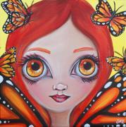 Butterfly Fairy Print by Jaz Higgins