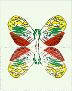 Render Originals - Butterfly fantastic many-colored by Larisa Karpova