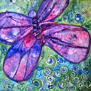 Jewel Tones Originals - Butterfly Goddess by Miriam  Schulman