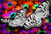 Ebirdsl Digital Art Framed Prints - Butterfly Framed Print by Ilias Athanasopoulos