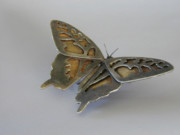 Insect Sculptures - Butterfly by Kirk Sullens
