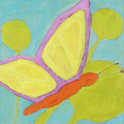 Kids Room Mixed Media Posters - Butterfly Poster by Laurie Breen