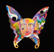 Imagined Realism Paintings - Butterfly Mask by Bob Coonts