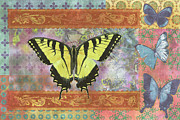 Decor Photography Painting Posters - Butterfly Mosaic Poster by JQ Licensing