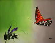 Jimmie Bartlett - Butterfly on Purple ...