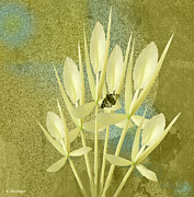 Hall Mixed Media Prints - Butterfly Orchid Print by Andrew Penman