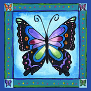 Corwin Paintings - Butterfly by Pamela  Corwin