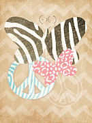 Animal Print Posters - Butterfly Peace Poster by Linda Woods