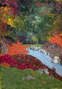 Foliage Tapestries - Textiles - Butterfly River by Maureen Wartski