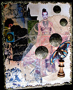 Chess Piece Mixed Media Posters - Butterfly Poster by Sandy McIntire