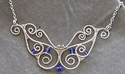 Butterfly Jewelry Originals - Butterfly Swarovski Crystal and Silver Necklace custom color by Heather Jordan