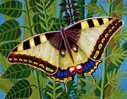 Foliage Paintings - Butterfly by Tamas Galambos