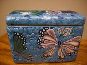 Caddy Originals - Butterfly tea caddy by Jo Watts