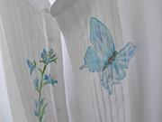 Formal Flower Paintings - Butterfly Tuxedo Shirt by Nancy Rutland