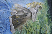 Mural Photos - Butterfly Woman Costa Rica by Bob Christopher