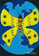 Herold Alvares Paintings - Butterfly World by Herold Alvares