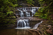 Buttermilk Falls State Park Framed Prints - Buttermilk Falls Glen Framed Print by Jeremy Martin