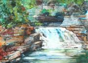 New York State Painting Originals - Buttermilk Falls II by Patricia Allingham Carlson