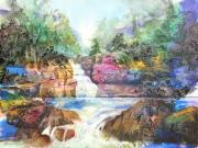 New York Mixed Media Originals - Buttermilk Falls III by Patricia Allingham Carlson
