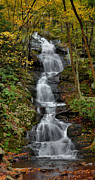 Stokes State Forest Prints - Buttermilk Falls In Autumn Print by Stephen  Vecchiotti
