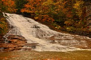 Buttermilk Falls Prints - Buttermilk Falls sate park New York  Print by Puzzles Shum
