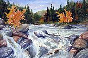 Fast Painting Originals - Buttermilk Falls by Wilfred McOstrich