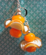 Candy Jewelry - Butterscotch Dandies Earrings by Janet  Telander