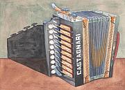 Button Painting Prints - Button Accordion Two Print by Ken Powers