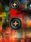 Discrimination Mixed Media Metal Prints - Button to the Top Metal Print by Fania Simon
