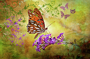 Gulf Fritillary Photos - Buttterfly Fantasy by Bonnie Barry