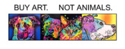 Dean Russo Paintings - Buy Art Not Animals by Dean Russo