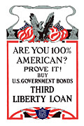 Wwi Propaganda Prints - Buy U.S. Government Bonds Print by War Is Hell Store