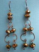 Beth Sebring - BW Bronze Earrings