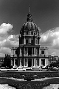 1970s Originals - BW France Paris Church Saint Louis des Invalides 1970s by Issame Saidi