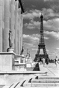 1970s Originals - BW France Paris Eiffel tour Chaillot palace 1970 by Issame Saidi