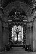 1970s Originals - BW France Paris royal chapel altar St James Palace 1970s by Issame Saidi