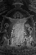 1970s Originals - BW France Paris Sacre Coeur Basilica dome Jesus 1970s by Issame Saidi