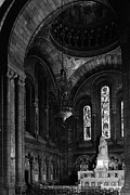 Sacre Coeur Art - BW France Paris sacre Coeur basilica virgin chapel by Issame Saidi