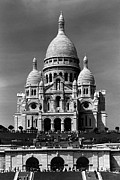 1970s Originals - BW France Paris The Sacre Coeur Basilica 1970s by Issame Saidi