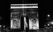 1970s Originals - BW France Paris Triumphal arch 1970s by Issame Saidi