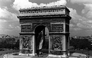 1970s Originals - BW France Paris Triumphal arch  Place de lEtoile 1970s by Issame Saidi
