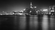 Night Scene Originals - bw Hong Kong night scene by Kam Chuen Dung