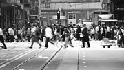 Busy Photo Originals - bw Hong Kong street view by Kam Chuen Dung