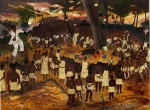 Vodou Paintings - Bwa Kayiman Haiti 1791 by Nicole Jean-Louis
