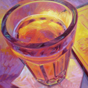 Wine Canvas Paintings - By Candle Light II by Penelope Moore
