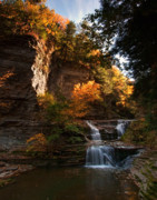 Buttermilk Falls State Park Prints - By Dawns Early Light Print by Neil Shapiro